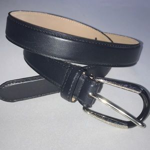 Talbots Genuine Leather Vintage Black Belt